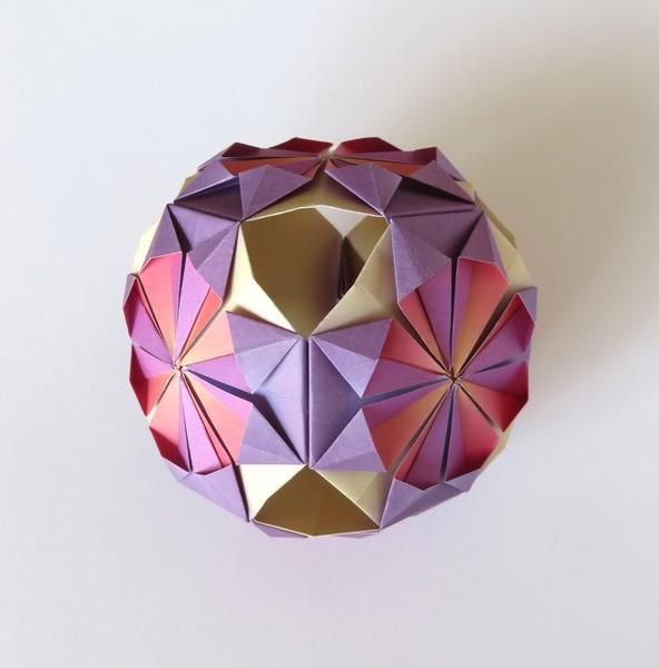 kim quach origami modulaire kusudama